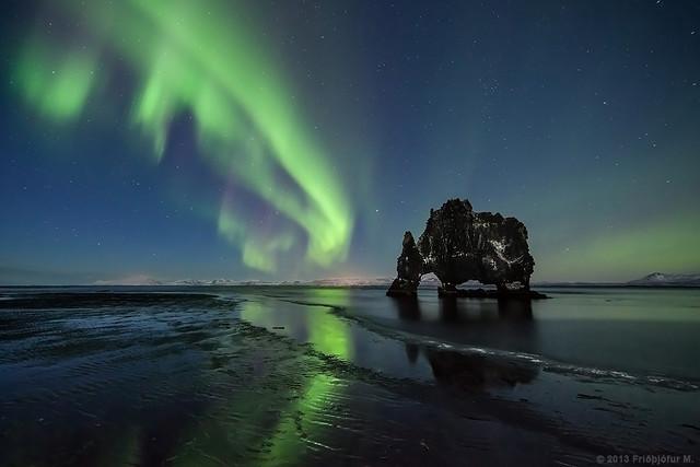 Hvítserkur Aurora at Dusk