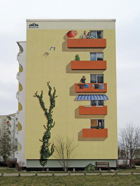 Rostock (Dierkow-Neu) - Wall painting