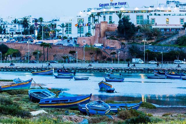 Le Bouregreg à Rabat.  - Maroc