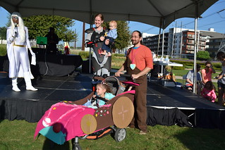 Costume Contest Winner - Super Group: Wreck It Ralph - Paul, Jennifer, Sabrina & Milo Ford | by CASA of Travis County