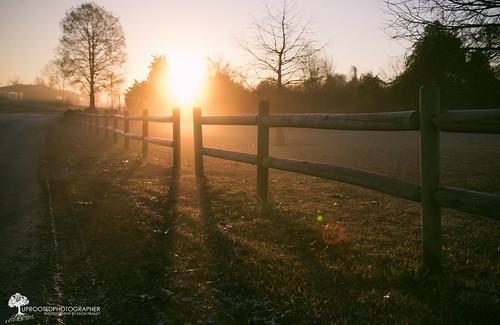 morning weather silhouette fog sunrise fence nc nikon shadows foggy northcarolina lensflare monday posts goodmorning d600 newbern lawsoncreekpark