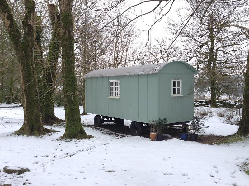 Shepherd's hut at Prince Hall Hotel, Dartmoor