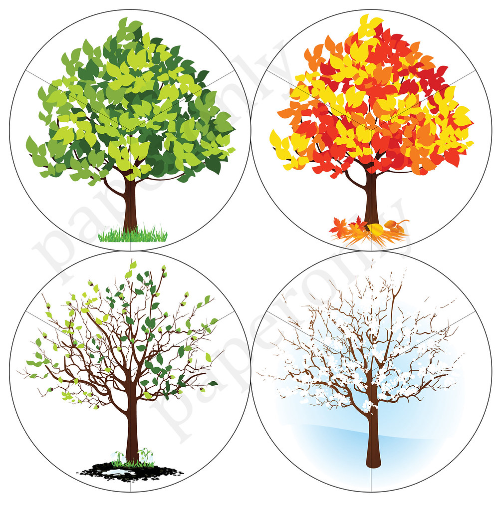 photo about Seasons Printable called seasons puzzle for small children - printable PDF upon my weblog paper-o
