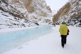 Walk by Blue Ice   by Partha