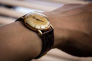 Vintage Huguenin dresswatch, back from service | by GuySie