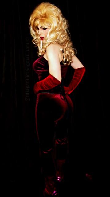 Lady in sensual red velvet