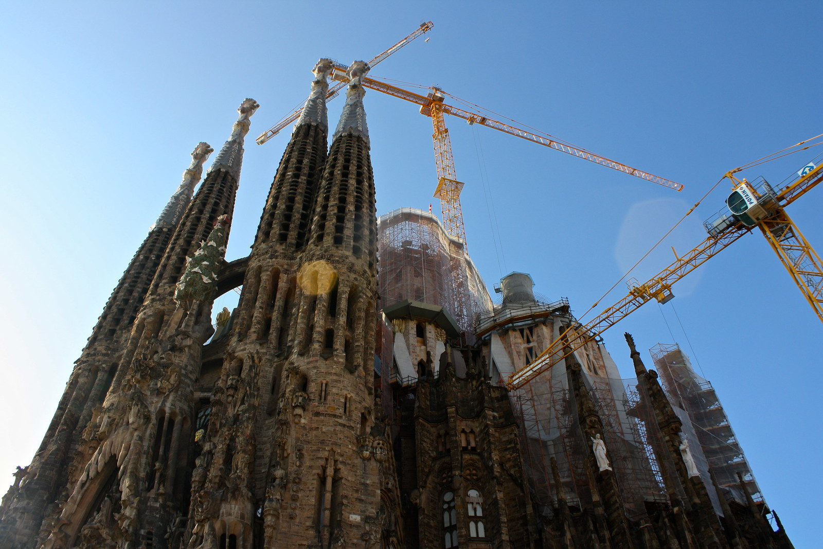 Sagrada Família by Antoni Gaudí in Barcelona, Spain