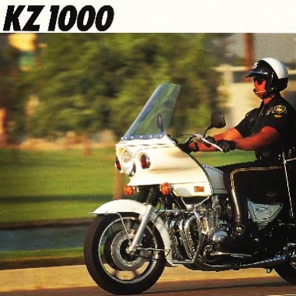 Brochure for the Kawasaki KZ1000 police bike  #kawasaki #m