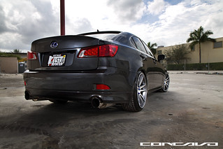 Lexus IS250  on Concavo CW-S5 Matte Grey Machined Face