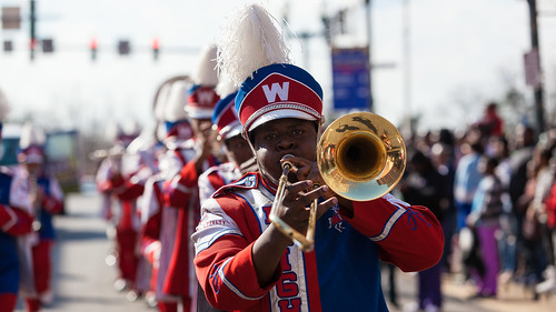 Marching bands at the 2013 Krewe of Harambee MLK Day Mardi Gras Parade in Shreveport | by Shreveport-Bossier: Louisiana's Other Side