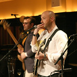 Sun, 20/01/2013 - 9:32pm - Music, wine and food in an evening to benefit WFUV Public Radio. The Highline Sessions at Del Posto are hosted by Rita Houston and Joe Bastianich. January 20, 2013. Photo by Laura Fedele