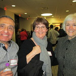 Mohamed  Elnabarawy '76, Mary Lindgren and Chancellor Jacqueline Johnson