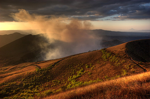 sunset volcano nicaragua masaya volcan