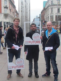 Cllr Padraig McLoughlin canvassing with Labour Youth in Dublin