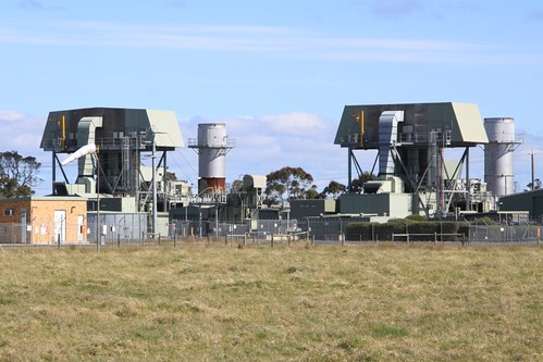 Pair of gas turbines at the Bairnsdale Power Station