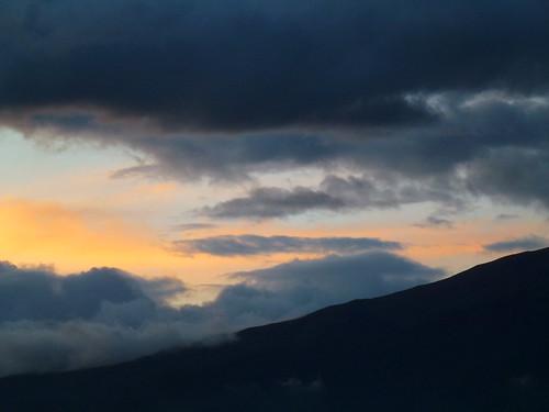 sunset night cloudy otavalo