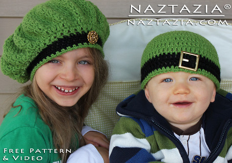 de1afce4b6b ... FREE Crochet Pattern   Video - Irish Inspired Beret Hat and Beanie Hat  for Children
