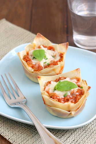 Muffin Tin Mini Lasagna | by Tracey's Culinary Adventures