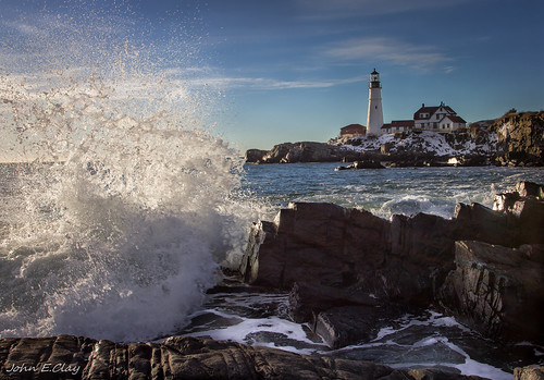 ocean lighthouse spring maine newengland portlandhead jclay photographyforrecreation