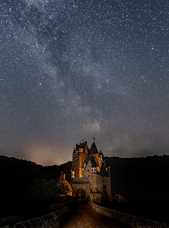 Castle Eltz with Milkey Way