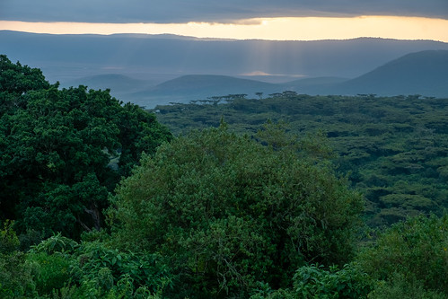 Sunset from Ngorongo Sopa Lodge | by Laura Jacobsen