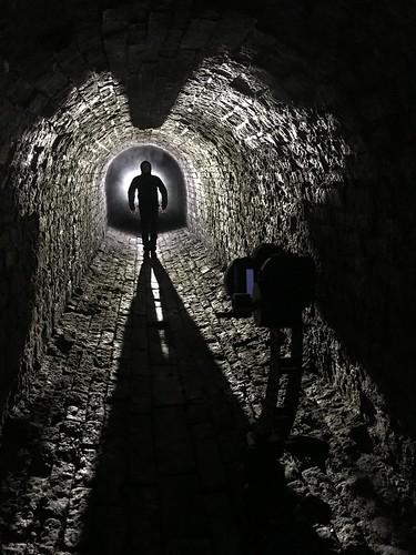 iphone bts behindthescenes dark afterdark night backlit backlight backlighting texture brickwork stone tunnel lightpainting