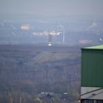 Bramme auf der Halde Schurenbach in Essen vom Tetraeder aus gesehen - Entfernung circa 4,4 Kilometer