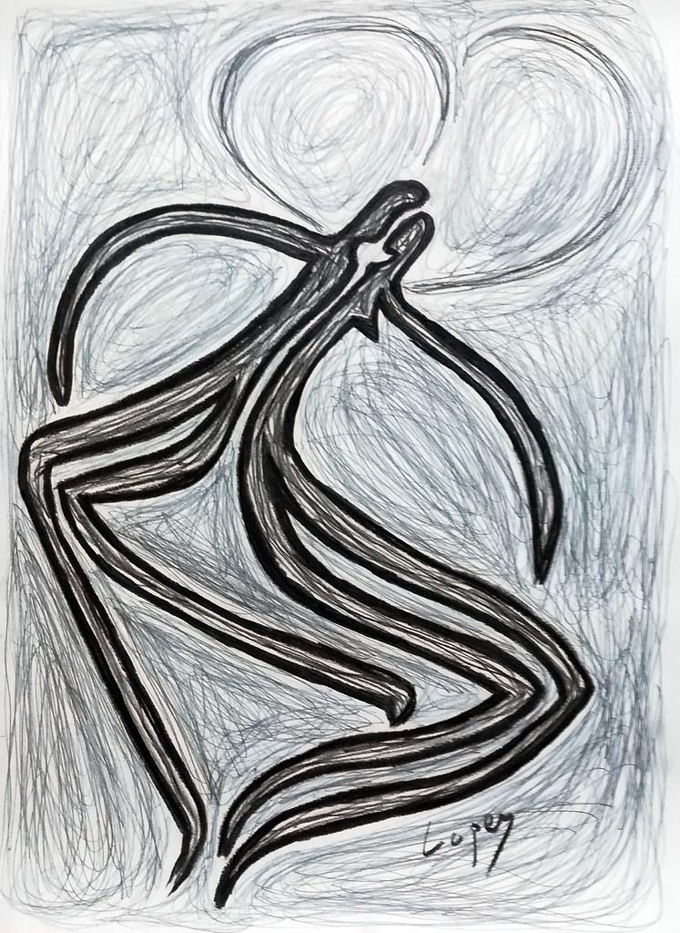 Dibujo Lápizcarboncillo Charcoal Drawings Pedro Lopey