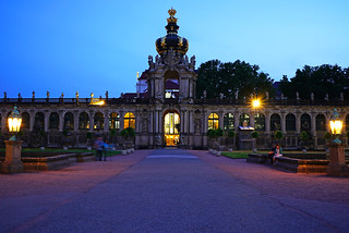 Dresden at the blue hour. Kronentor, Zwinger | by Andrey Sulitskiy