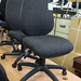 Vintage fabric operator chair E70