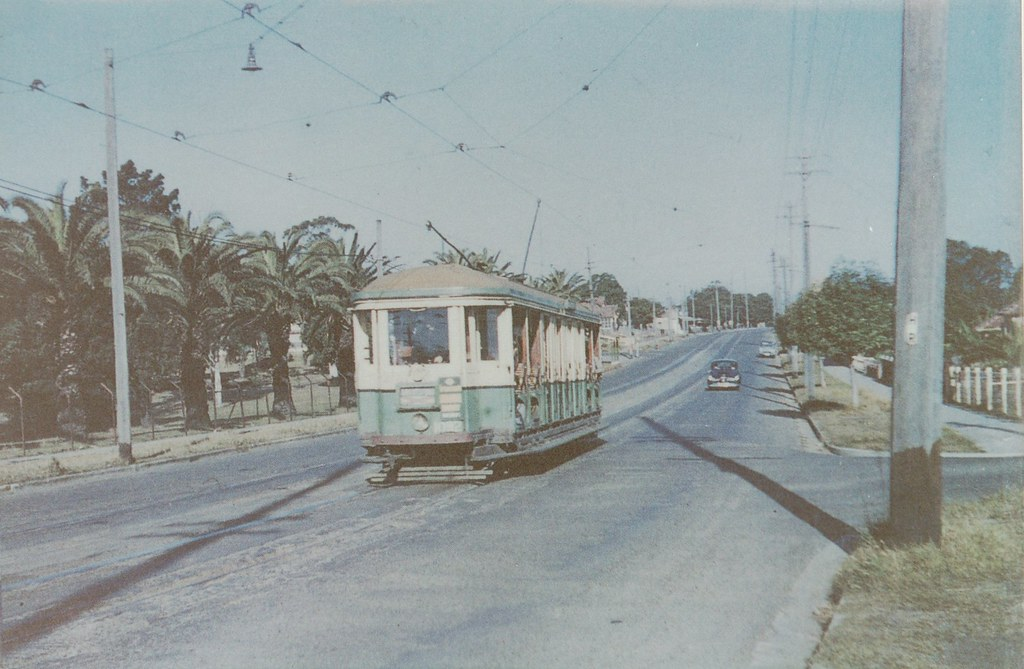 Tram along Great North Road, Abbotsford NSW