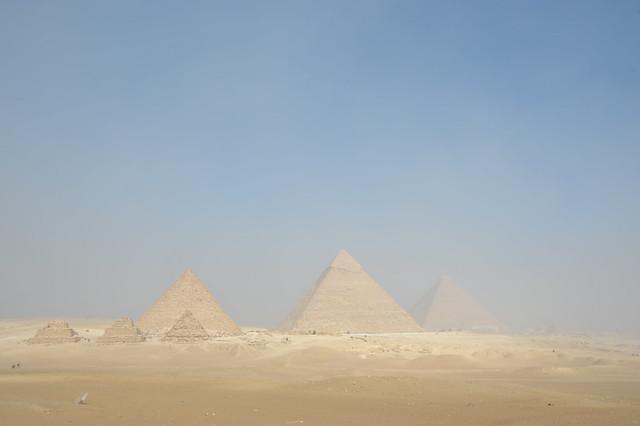 Panoramic view of pyramids