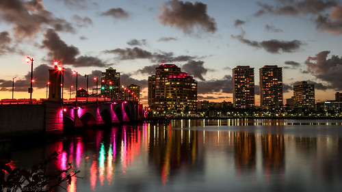 park bridge sunset 3 reflection water glass canon scott landscape eos lights james exposure cityscape dusk mark iii royal s shutter l 5d usm dslr delayed ef f4 intracoastal 24105mm