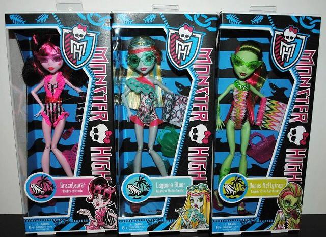New Monster  High  2013 Swim line draculaura lagoona venus