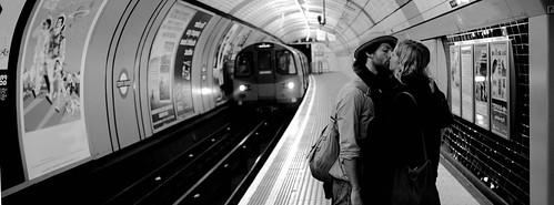 London Underground Kiss