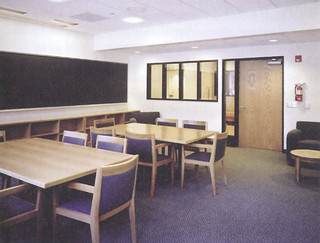 The modernized organic chemistry lab in Seaver North after it was renovated in 2001