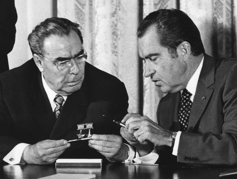 Brezhnev and Nixon