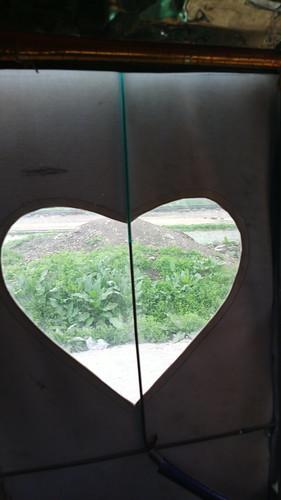 door view heart interior peshawar rickshaw