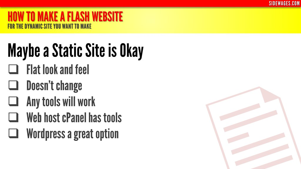 ... How to Make a Flash Website - PowerPoint Slide #2 - by SideWages
