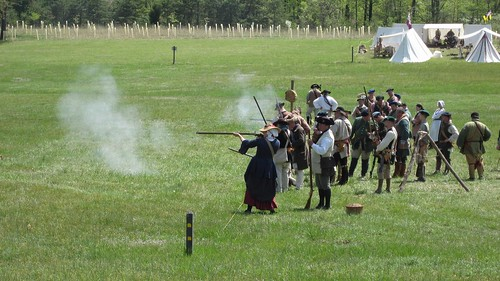 Musket Practice, Lady on the Line: Fort Frederick, MD