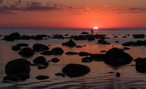 sunset lake ontario canada huron kettlepoint