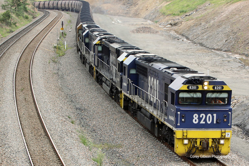 8201, 9027, 8251 & 9032 loaded coal for Newcastle by Corey Gibson