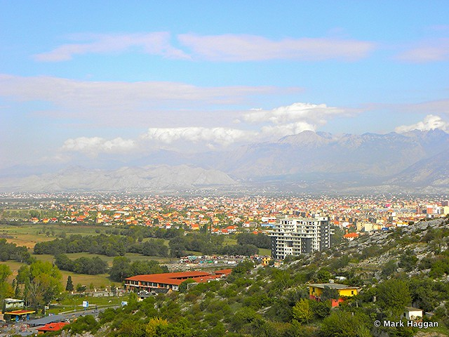 The city of Shkodër, Albania