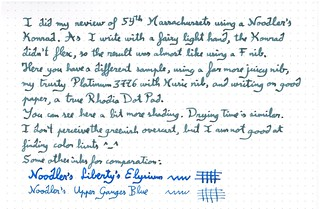 Ink Review : Noodler's 54th Massachussets, complement | by LostInBrittany