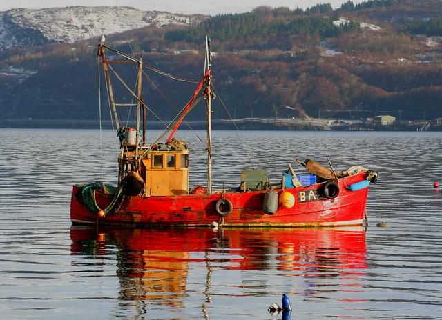 Ardentinny fishing boat