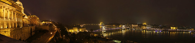 Budapest - night panorama from the Buda castle 3 2012 dec.