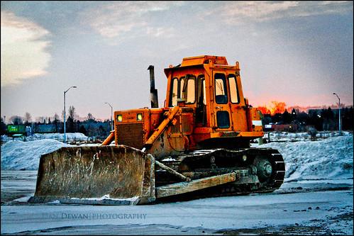 winter snow ontario colour sunrise ottawa heavyequipment ideas bulldozer day38 kanata constructionequipment canoneos7d day38365 3652013 365the2013edition dandewan 07feb13
