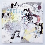Ah'mondo chokoreh'to (2013) Oil on canvas, ink, pigment, charcoal, coloured pencil 460x460x45mm