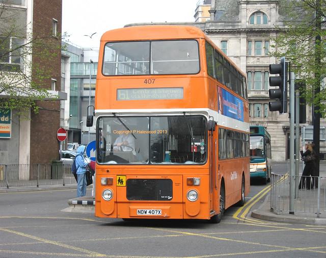 Cardiff Bus 407 (NDW407X)