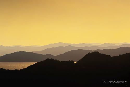 sunset sea mountain japan spring 2013 kochipref
